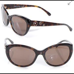 CHANEL Tortoise Shell Camellia Sunglasses 5187-H